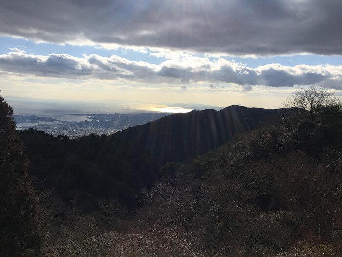六甲山から見下ろした景色