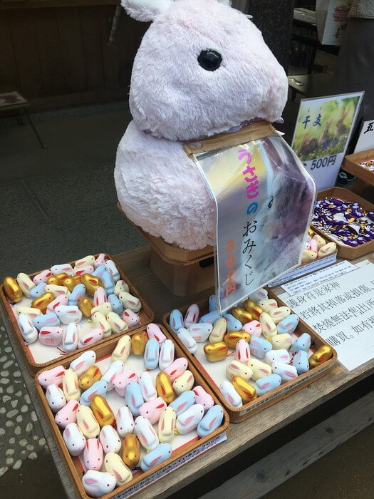 群れウサギ(宇治上神社)