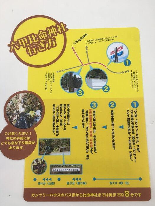 「六甲山上駅」からの行き方案内
