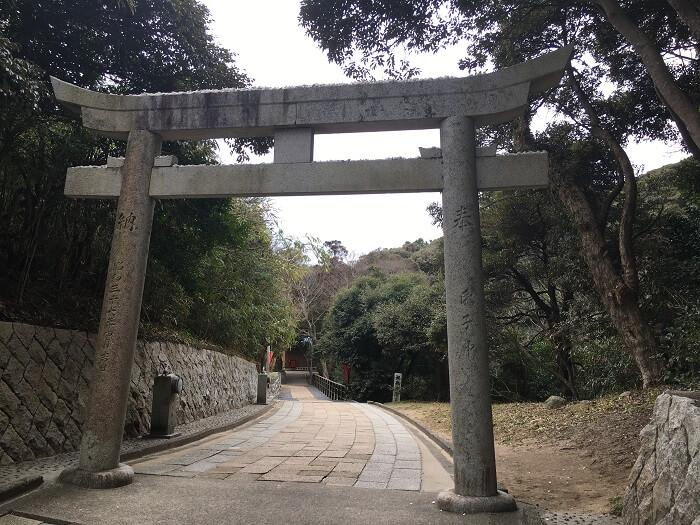 参道の鳥居(白兎神社)