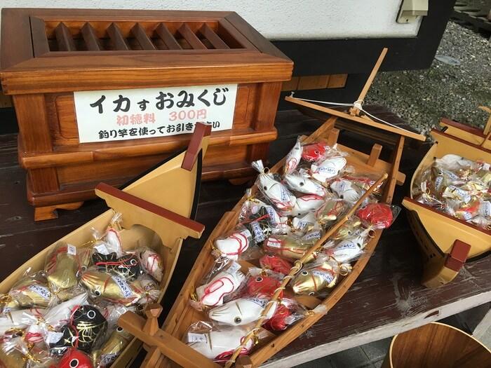 北海道ならではの珍しいイカおみくじ