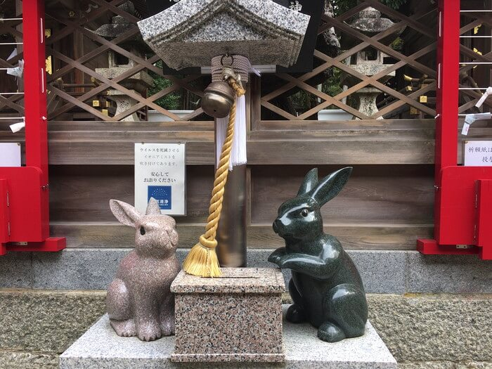 カップルウサギ(恩智神社)