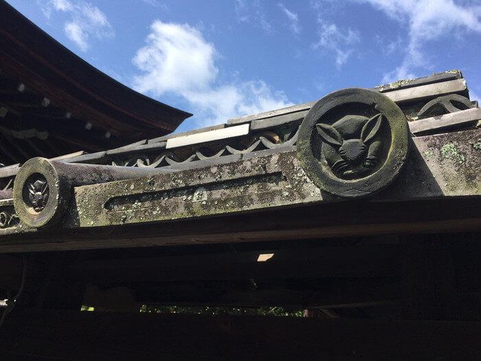 堀瓦の兎(三尾神社)